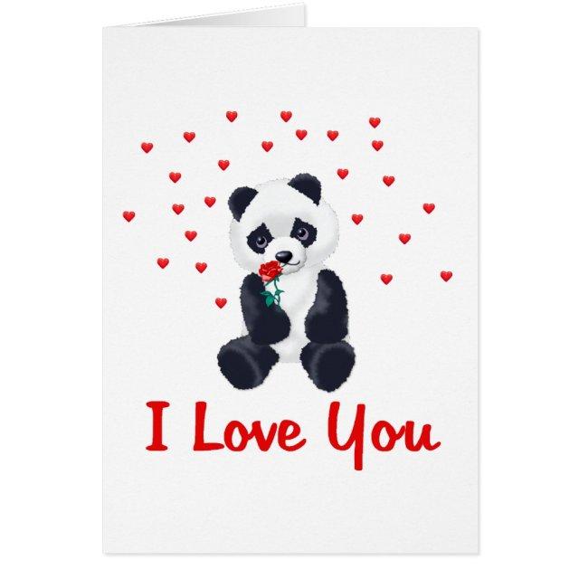 Panda Valentine Card