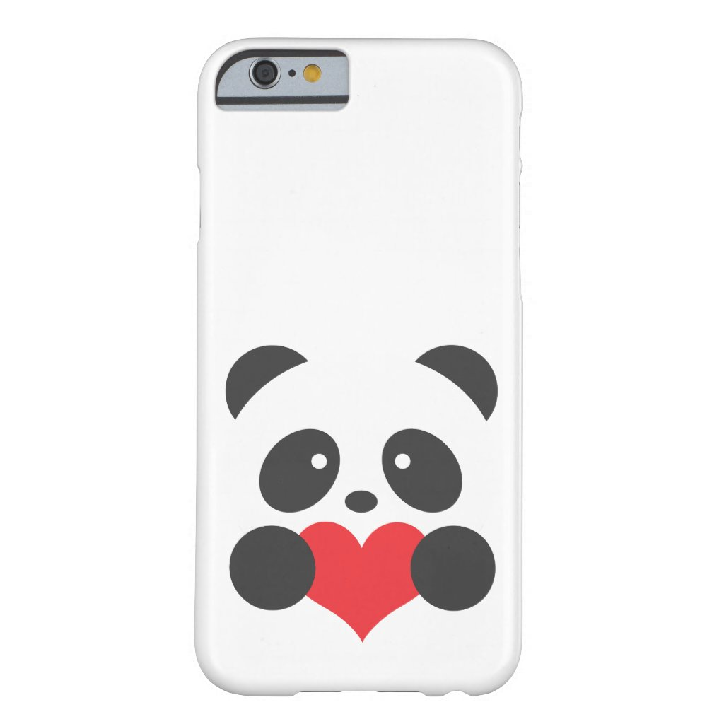 Panda with a heart case