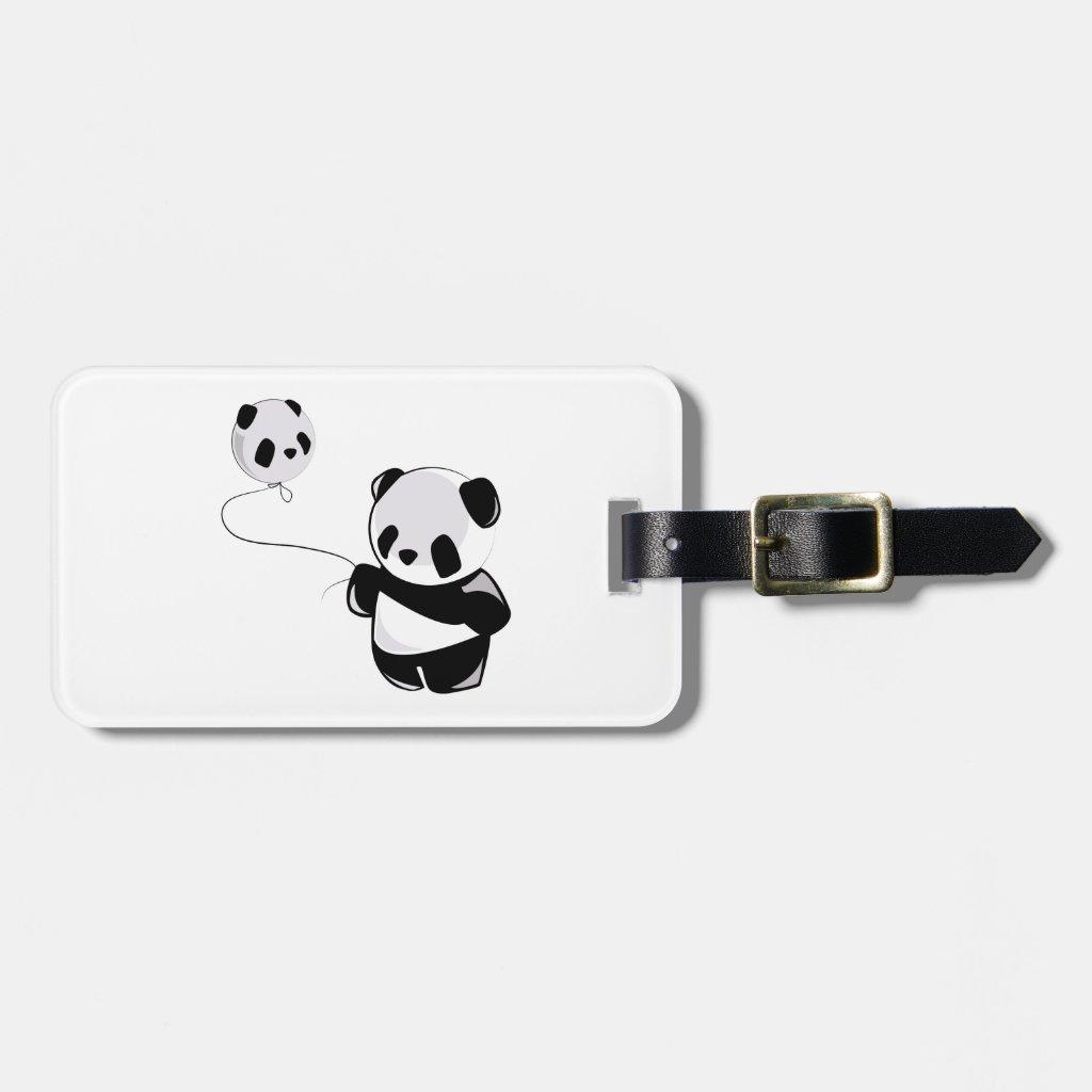 Panda With Balloon Bag Tag