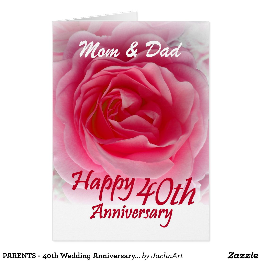 40th Wedding Anniversary | Anniversary Gifts & Personalised Cards