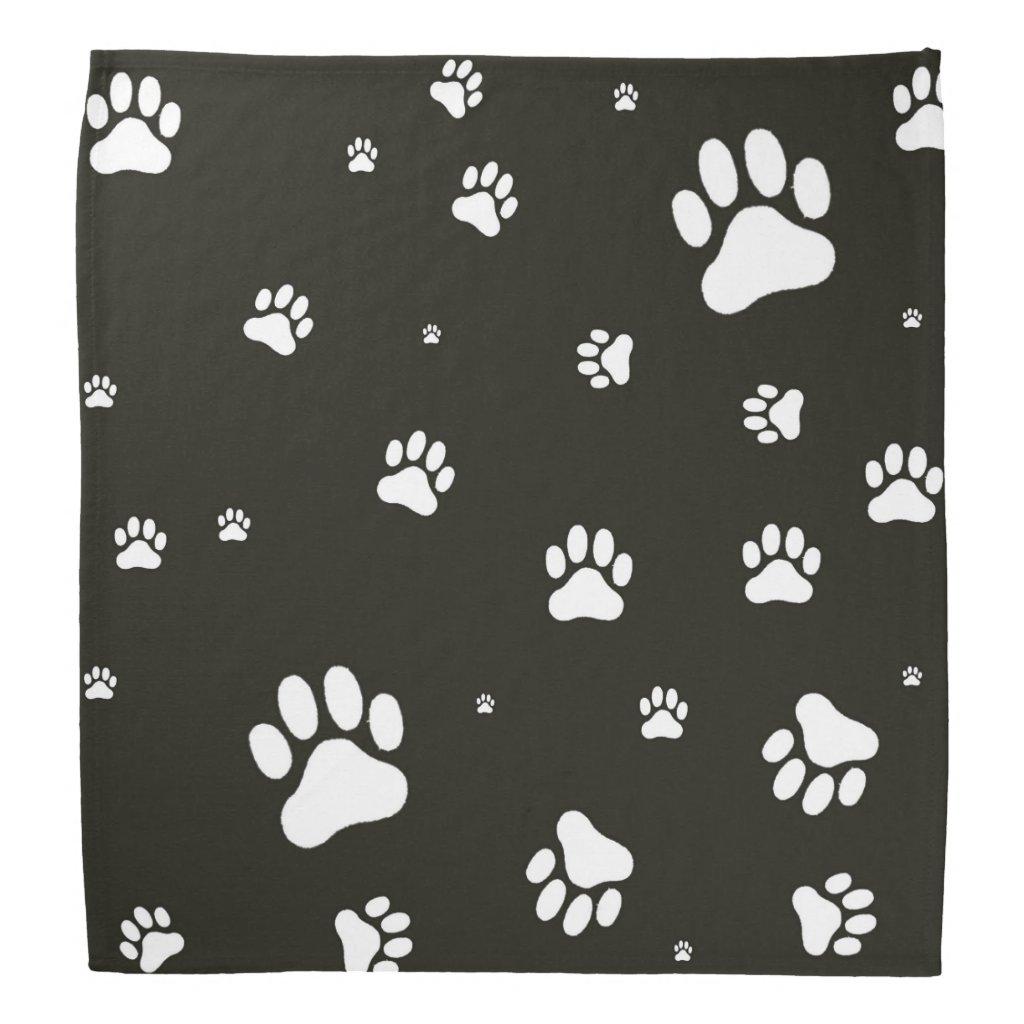 Paw prints bandanna