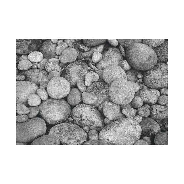 Pebble stones canvas print