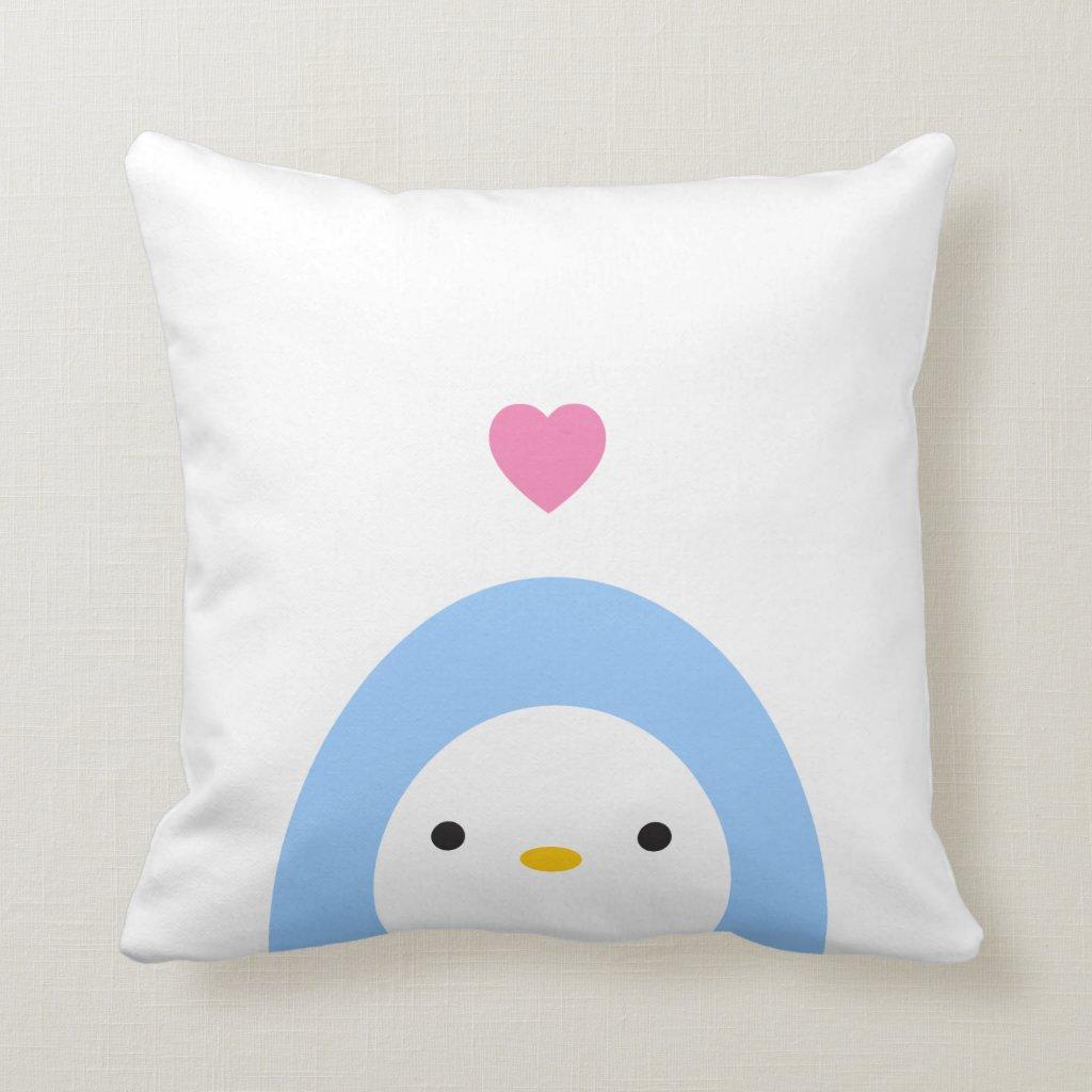 Penguin in Love Pillow