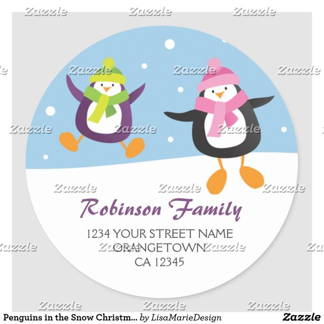 Penguins Address Stickers