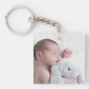 Personalised Double Sided Baby Photo Keychain