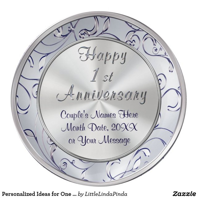 Personalised Ideas for One Year Anniversary, Wife Plate