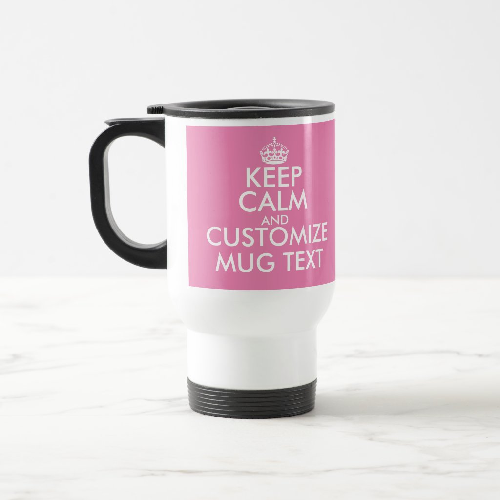 Personalised Keep Calm travel mug