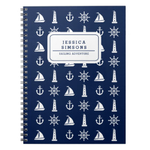 Personalised Nautical Things Spiral Notebook