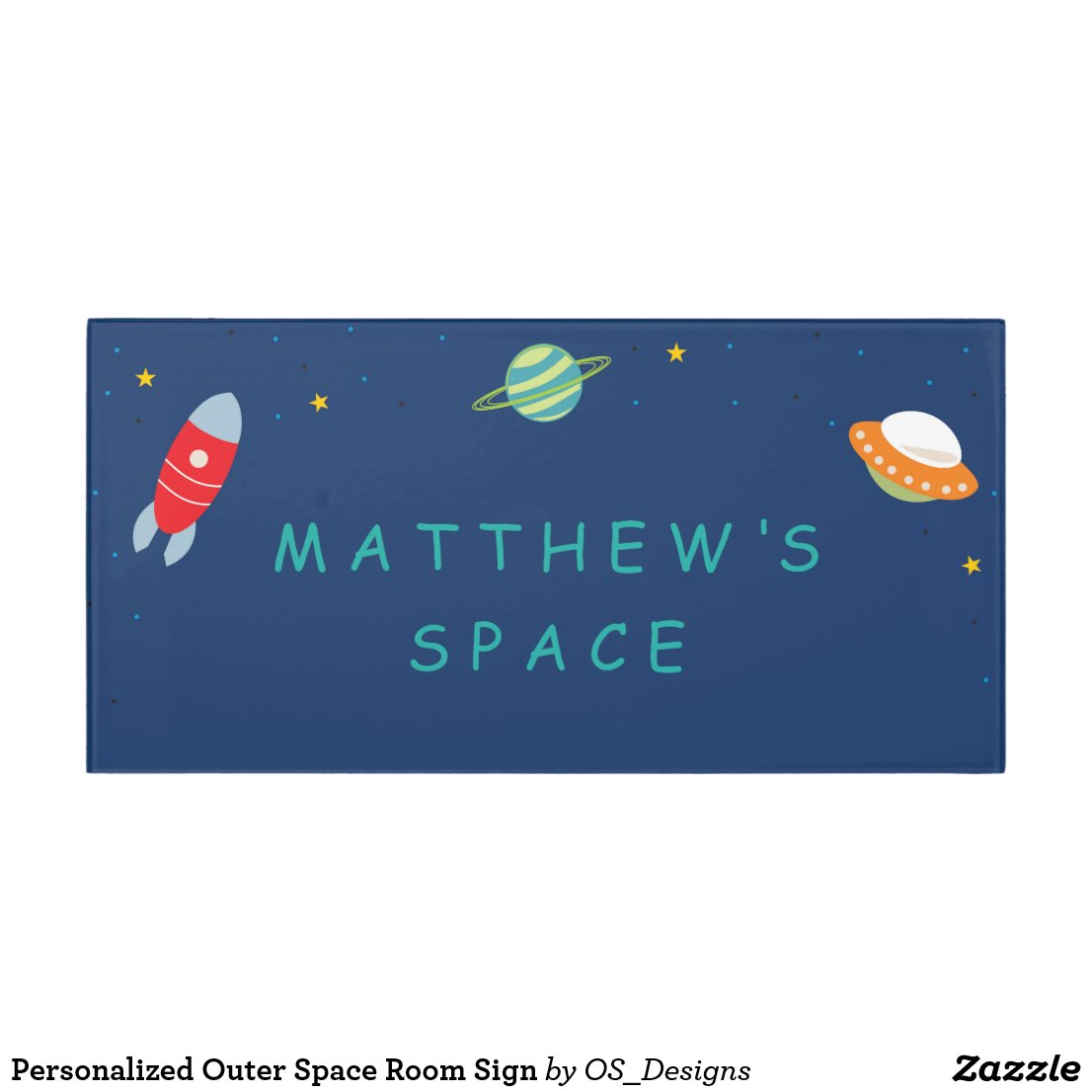 Personalised Outer Space Room Sign