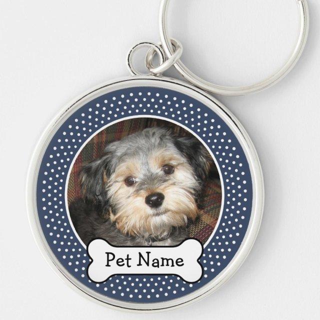 Personalised Pet Photo with Dog Bone Keyring