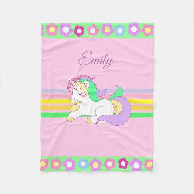 Personalised Unicorn Blanket