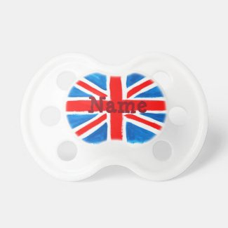 Personalised Union Jack Flag Pacifier
