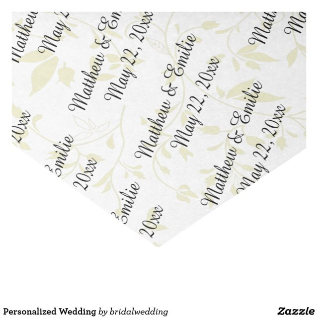 Personalised Wedding Tissue Paper