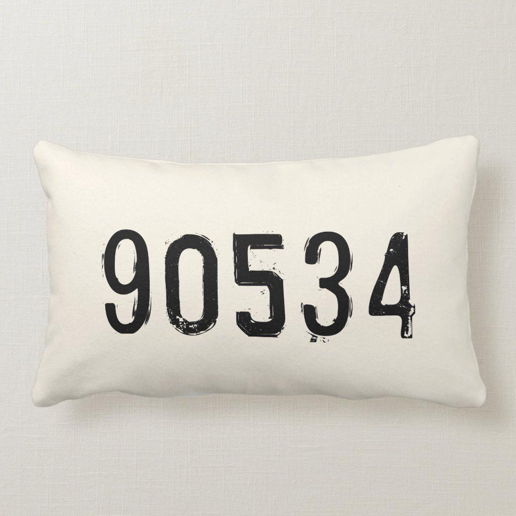 Personalised Zip Code Pillow