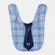 Personalized Shirt Tie Baby Bibs