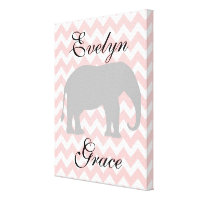 Personalized Elephant Canvas Print