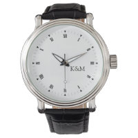 Personalized initials wristwatches