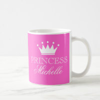 Personalized princess mug in pink