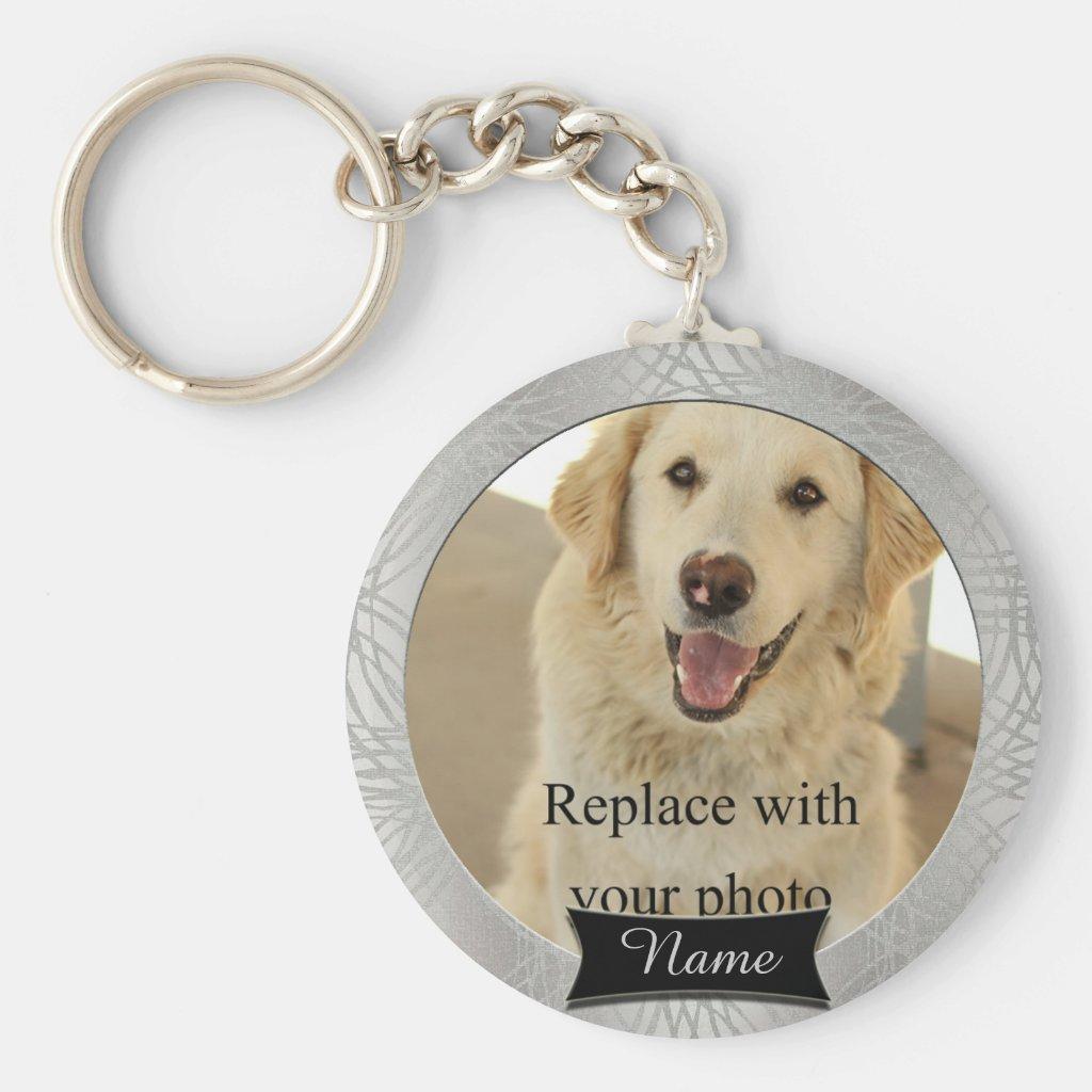 Pet Memorial Custom Photo Keyring
