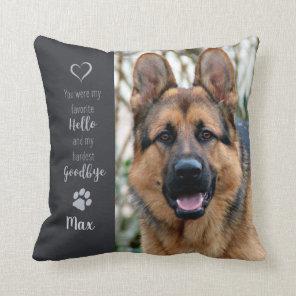 Pet Memorial - Dog Photo - Cat Photo - Pet Photo Cushion