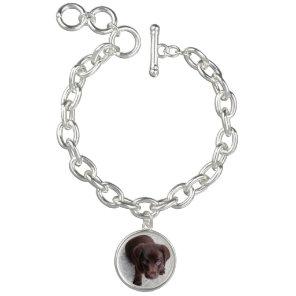 Pet photo dog jewellery silver bracelet
