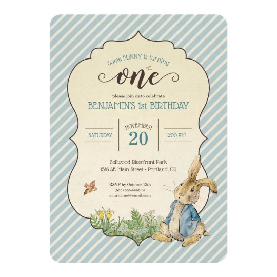 personalised peter rabbit birthday
