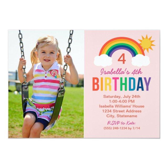 Photo Birthday Party Invitation