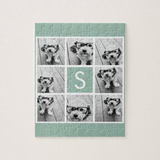 Photo Collage Monogram Puzzle