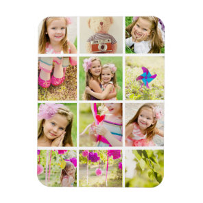 Photo Collage Template Personalised Magnet
