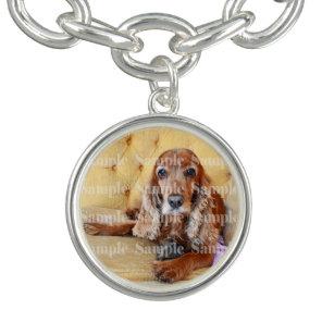 Photo pet memorial loss PERSONALIZE Charm Bracelet
