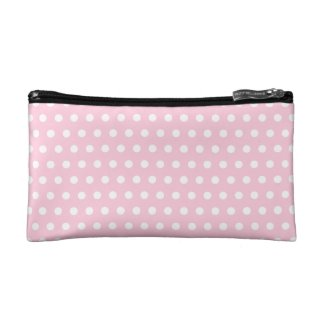 Pink and White Polka Dots Pattern.