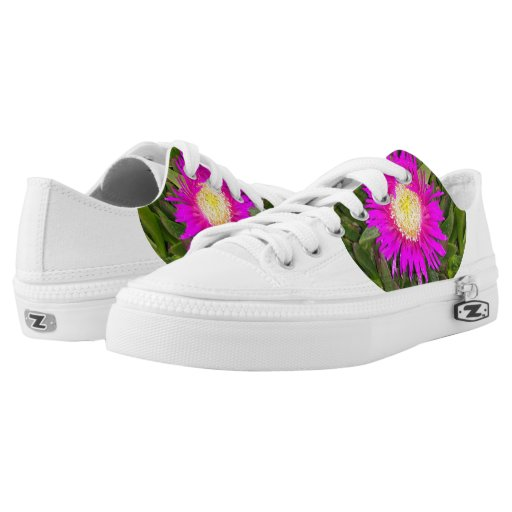Pink Flower Shoes Printed Shoes