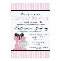 Pink Kitchen Shower Bridal Wedding Invitation