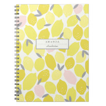 Pink Lemonade by Origami Prints Custom Notebook