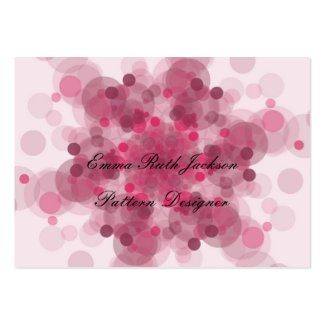 Pink Pattern business cards