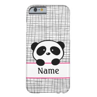 Pink Personalised Panda iPhone 6 Case