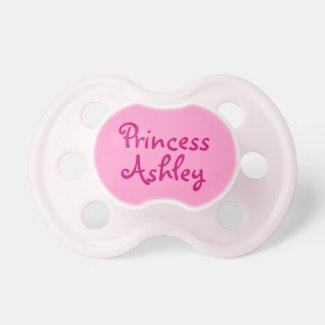 Pink Princess Personalised Name Baby Girl Pacifier