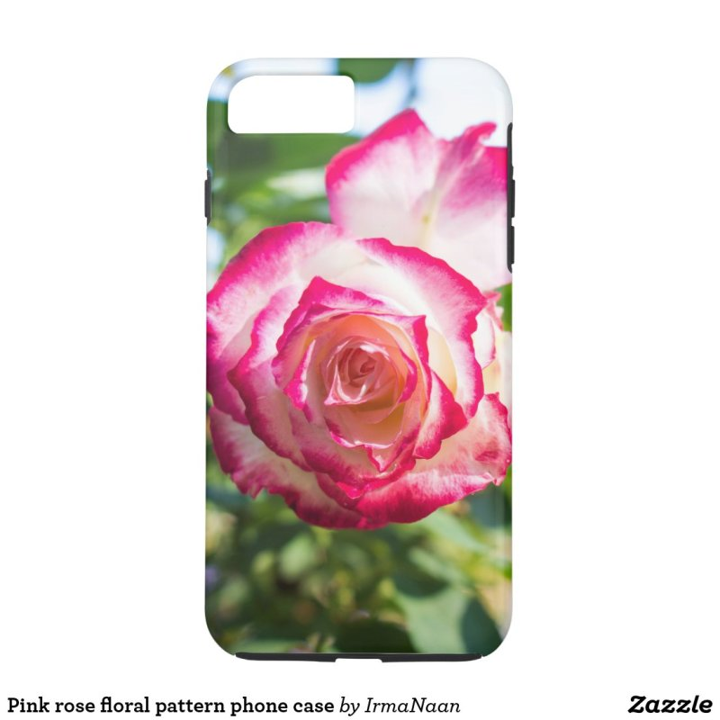 Pink rose floral pattern phone case