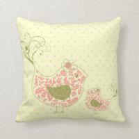 Bird  Whimsical Cushion