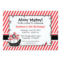 Pirate Invitation Birthday Party