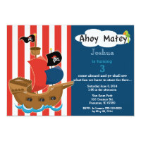 Pirate Ship Birthday Invitation