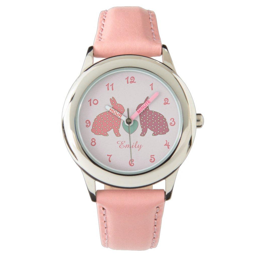 Polka Dot Bunnies Watch