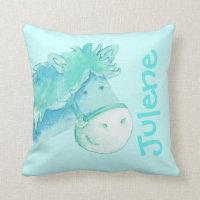 Pony name pillow