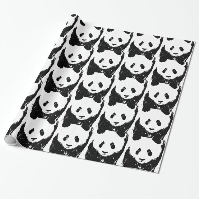 Pop Art Panda Gift Wrap