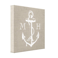 Anchor Monogram Canvas Print