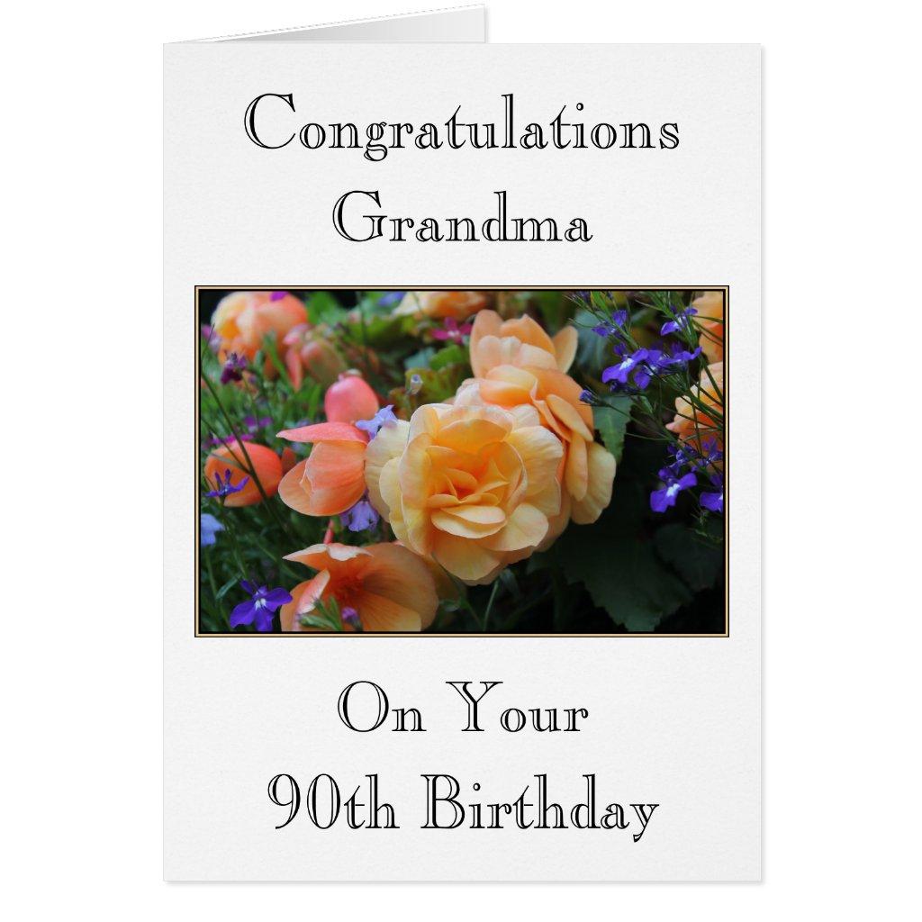 Grandma 90th Birthday Card