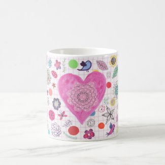 Pretty Love Heart Mug