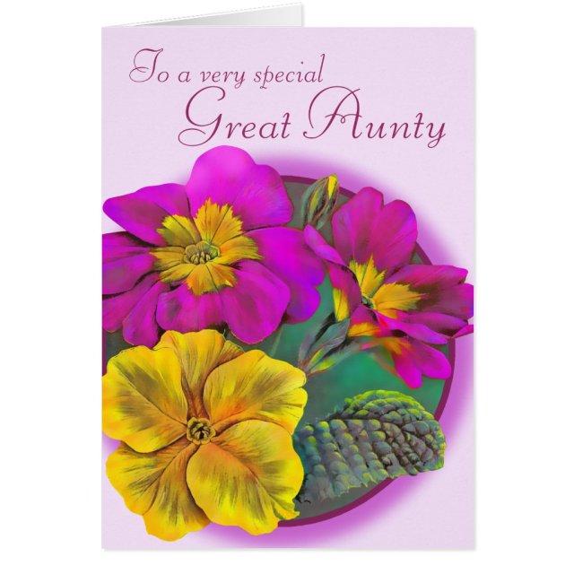 Aunty Birthday Card