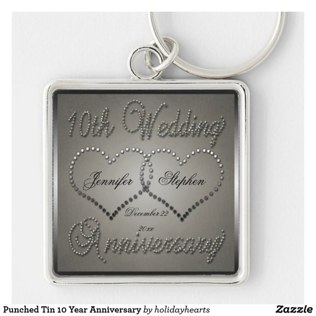 10 Year Anniversary Keyring