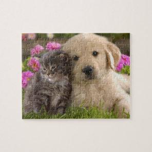 Puppy & Kitten Game Puzzle